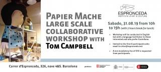 Escultura a gran escala con el artista Tom Campbell