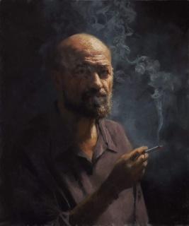 Vicente Romero, Autorretrato [Premio Sennelier] — Cortesía de ASPAS Pintores Pastelistas Españoles