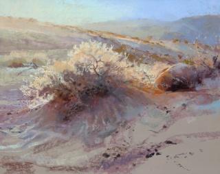 Margaret Larlham, Burning Bush [Premio arteMiranda 2] — Cortesía de ASPAS Pintores Pastelistas Españoles