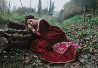 Rubén Belloso Adorna, La dama de Veio [Premio arteMiranda 3] — Cortesía de ASPAS Pintores Pastelistas Españoles