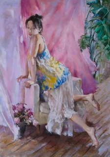 Li Jing, Summer nº3 [Premio Unison Colour] — Cortesía de ASPAS Pintores Pastelistas Españoles