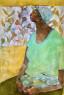 OLivia Mae Pendergast - Lucy holding rabbit - 2020 - 91cm H x 61cm W - Oil on canvas