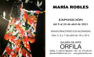 Flyer Exposición María Robles