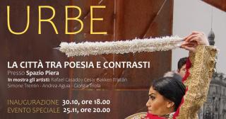 """Cartel de """"LA URBE: La ciudad entre poesía y contrastes"""""""