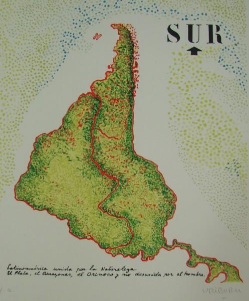 Nicolás García Uriburu, Sur, Serigrafía. P/A. 65 x 50 cm.