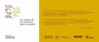 Eusebio Sempere/Abel Martín. La música de los números que no existen