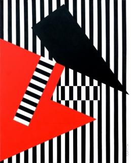 Contraste Geometrico 13. Acrylic on Canvas, 100x80 cm., 2016
