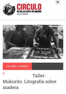 Mokurito: Litografía sobre madera