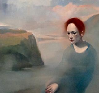 Paulo Damião, First attemp to become a landscape, 120x100 cm, óleo sobre tela, 2019 — Cortesía de Arte Periférica