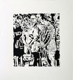 Thomas Witte, Crown 1, 1971, 30,5 x 27,9 cm. Hand cut archival paper - 2015