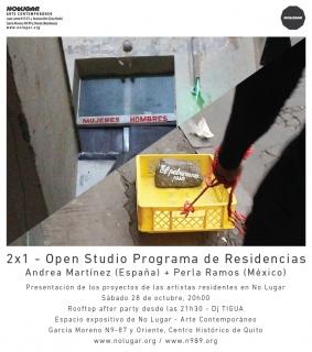 OPEN STUDIO PROGRAMA DE RESIDENCIAS: ANDREA MARTÍNEZ + PERLA RAMOS