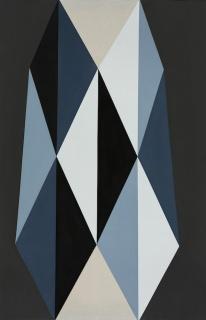 Blanco y Negro II, 2017. Acrylic on Canvas, 50 x 33 in. Imagen cortesía Art Circuits