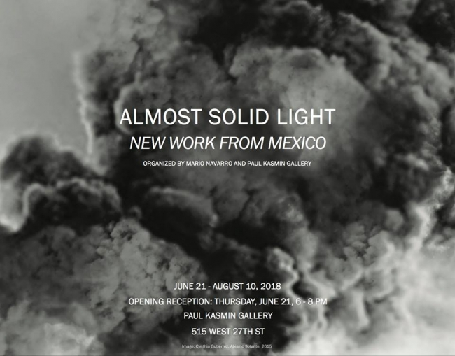 Almost Solid Light: New Work from Mexico