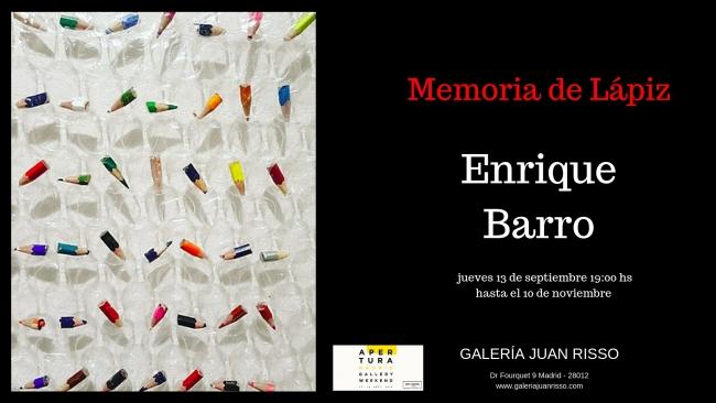 Enrique Barro. Memoria de Lápiz