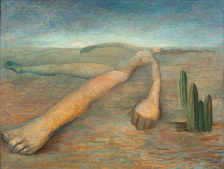 Tarsila do Amaral, Terra, 1943, oil on canvas, 24 × 31 1/2 inches