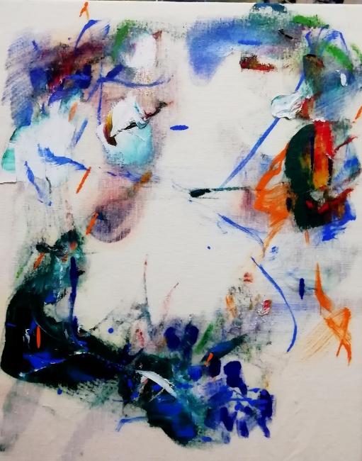 Cristóbal Ortega, Sudoración de Vik, 2018. Óleo sobre lienzo, 60x40 cm. — Cortesía de la Galería Miguel Marcos