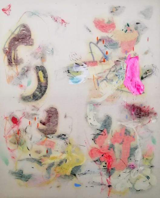 Cristóbal Ortega, Sudoración napolitana, 2018. Óleo sobre lienzo, 160x130 cm. — Cortesía de la Galería Miguel Marcos
