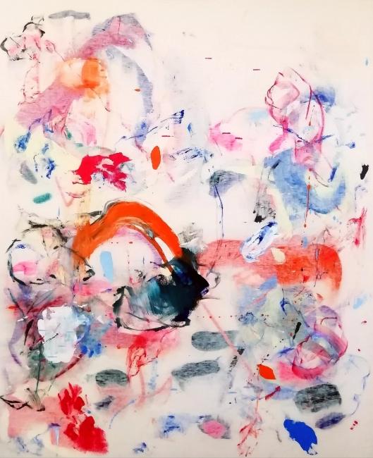 Cristóbal Ortega, Sudoración de Octavio Paz, 2018. Óleo sobre lienzo, 160x130 cm. - Cortesía de la Galería Miguel Marcos