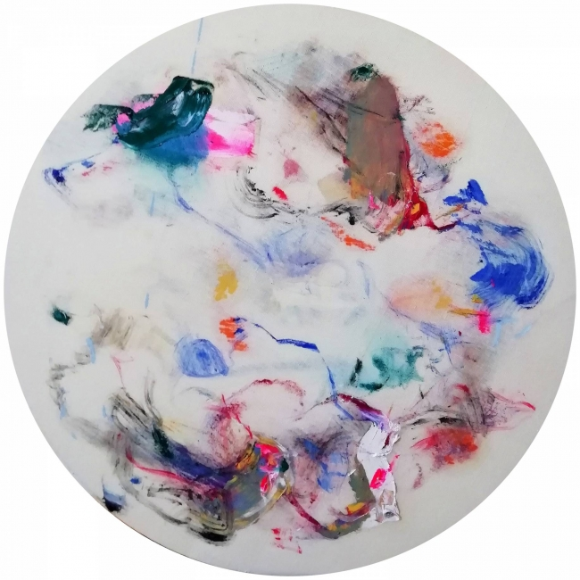 Cristóbal Ortega, Sudoración Kyoto, 2018. Óleo sobre lienzo, 80 cm. - Cortesía de la Galería Miguel Marcos