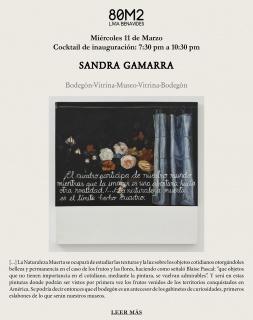 Sandra Gamarra. Bodegón-Vitrina-Museo-Vitrina-Bodegón