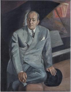 Daniel Vázquez Díaz (1882-1969). Retrato de Félix Fernández-Valdés (c. 1950). Colección de Rafael Botí — Cortesía del Museo de Bellas Artes de Bilbao