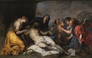 Anton van Dyck (1599-1641). Lamentación sobre Cristo muerto (c. 1627-1632). Museo de Bellas Artes de Bilbao — Cortesía del Museo de Bellas Artes de Bilbao