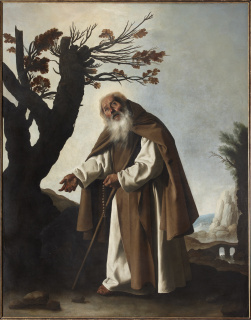 Francisco de Zurbarán (1598-1664). San Antonio Abad (1636). Colección particular — Cortesía del Museo de Bellas Artes de Bilbao