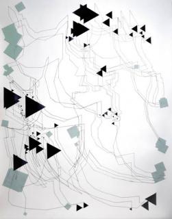 José Miguel Chico López, La imaginación no es verdadera. 2018. Tinta y acrílico sobre papel. 152 x 122 cm. — Cortesía de JM Galería