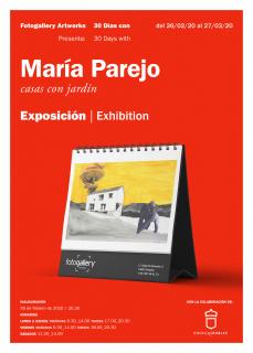 CASAS CON JARDÍN. María Parejo. Cartel