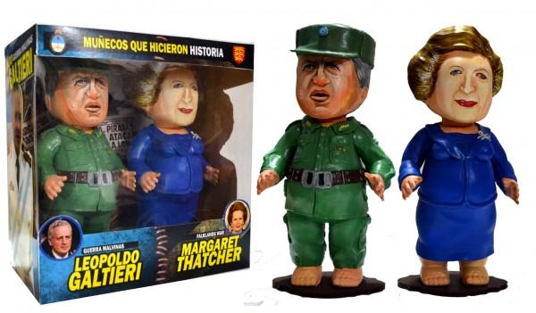Muñecos que hicieron Historia (Galtieri y Thatcher), Pool y Marianela