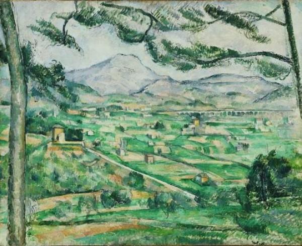 Paul Cézanne, Montaña Sainte-Victoire, 1886-1887. Adquirido en 1925. The Phillips Collection, Washington D. C.