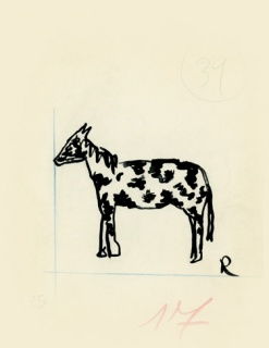 Ramón Gómez de la Serna, Greguerías, 4ª, Blanco y Negro, núm. 2.295, 14 de julio de 1935. Tinta y lápiz sobre cartón. Museo ABC, Madrid – Cortesía del Museo ABC