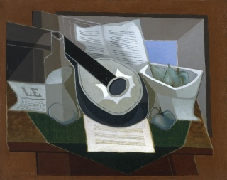 Juan Gris, Mandolin and Fruit Dish, 1925, oil on canvas, Museum of Fine Arts, Boston. Gift of Joseph Pulitzer, Jr. Photo © 2020 Museum of Fine Arts, Boston