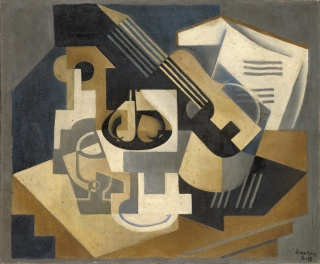 Juan Gris, Guitar and Fruit Dish on a Table, 1918, oil on canvas, Kunstmuseum Basel, Gift Dr. h.c. Raoul La Roche 1952