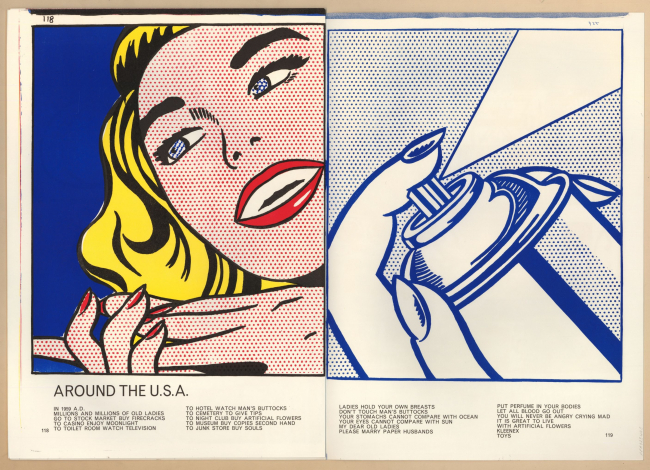"""Roy Lichtenstein. Girl/Spray Can from Walasse Ting. 1¢ Life, 1963. © The Trustees of the British Museum. © Estate of Roy Lichtenstein/All rights reserved/ VEGAP 2020 — Cortesía de la Fundación """"la Caixa"""""""