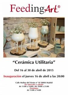 Cartel exposición de cerámica utilitaria