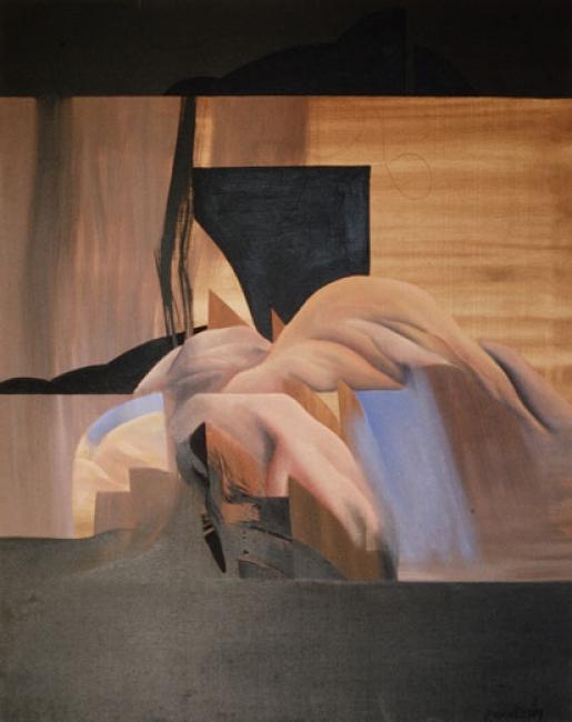 Francisco Mantecón, Sin título. 1975.100x81. Óleo sobre lienzo — Cortesía de la Galería José Lorenzo