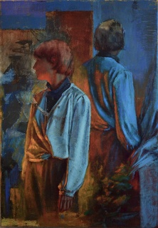 'Felipe Quiñones 'El Otro' - óleo sobre tela - 69 x 100 cm - 2019 — Cortesía de la Galería de Arte Bahía Utópica