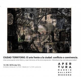 """Conversación entre Moris y Juan Herreros: """"CIUDAD TERRITORIO. El arte frente a la ciudad: conflicto o convivencia."""""""