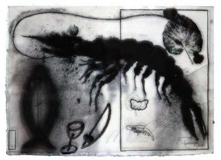 Joan Pere Viladecans, Sèrie Quaderns Verds, n.8-57x77 cm., 1987 — Cortesía de Canals Galeria d'Art