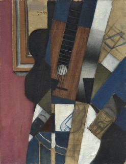 Juan Gris, Guitar and Pipe, 1913, oil and charcoal on canvas, Dallas Museum of Art, The Eugene and Margaret McDermott Art Fund, Inc.