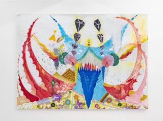 Diego de Aduriz - Autorretrato - 110 x 150 cm - Marcadores sobre papel - 2007 — Cortesía de la Cámara Argentina de Galerías de Arte