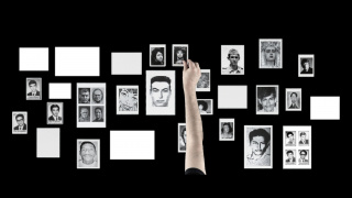 "Oscar Muñoz, ""Editor solitario,"" 2011[still], video-proyección Blu-Ray sobre una mesa con sonido, Collection of the artist, image courtesy of the artist"