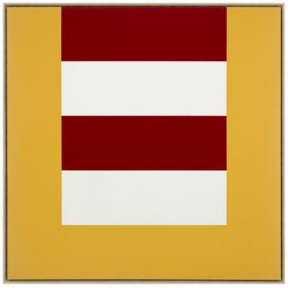 Karl Benjamin, #14, 1965, óleo sobre tela, 106,7 x 106,7 cm