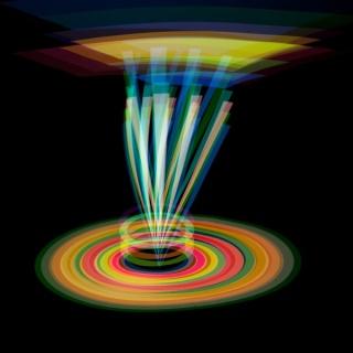 Arturo Aguiar, 447, Serie Formas de luz, Año de toma 2013, Año de impresión 2015, Foto Performance Lumínica, Fotografía color sobre papel fotográfico Kodak, 80x80cm.,1 de 7 y PA