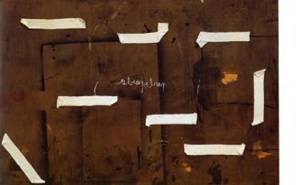 "Antoni Tàpies, \""Parla, parla\"", - Procede mixte sur bois - 200×300 cm © Fundació Antoni Tàpies, Barcelona / Vegap"
