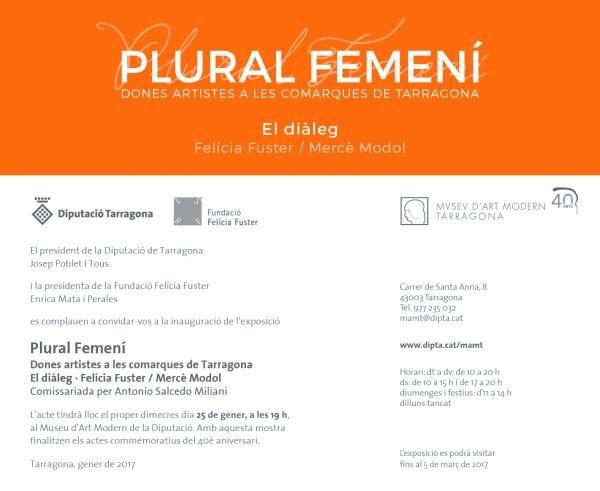 Plural Femení. Dones artistes a les comarques de Tarragona. El diàleg