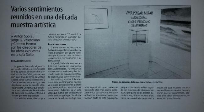 Articulo Faro de Vigo