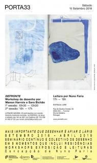 Defronte. Workshop de desenho por Manon Harrois e Sara Bichão