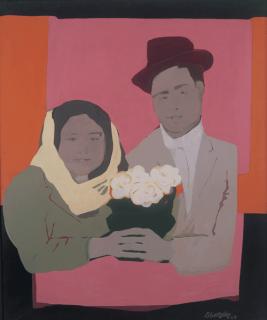 Beatriz González, Los Suicidas del Sisga No 2, 1965, Courtesy die Künstlerin und Óscar Monsalve, Sammlung Museo La Tertulia, Cali